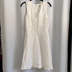 White midi Jcrew dress